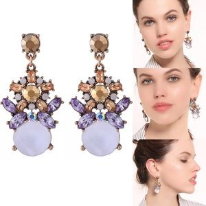 """Lavender Bliss"" Statement Glam Earrings"